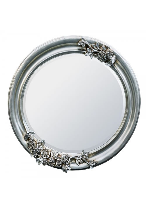 Large silver oval wooden mirror for Big silver mirror