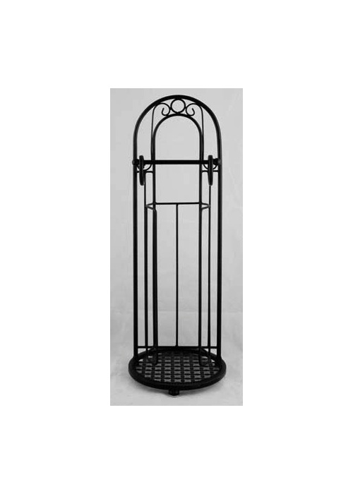 Black Free Standing Decorative Toilet Roll Stand