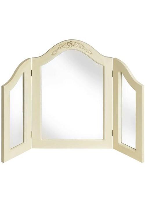 Cream folding bedroom vanity mirror interior flair