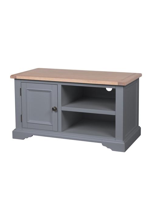 Grey Pine Oak Nickel Handles Tv Cabinet Interior Flair