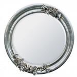 Oval Silver Mirror