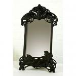 Black Art Deco Style Mirror