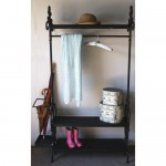 Black Hallway Shelving Unit