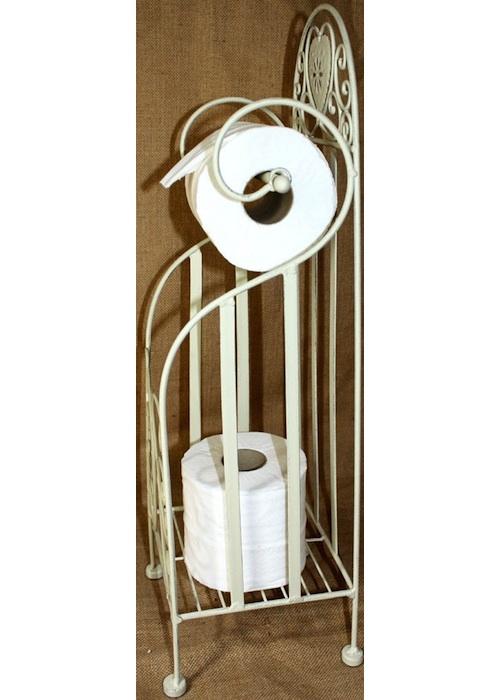 Cream Heart Toilet Roll Holder 3