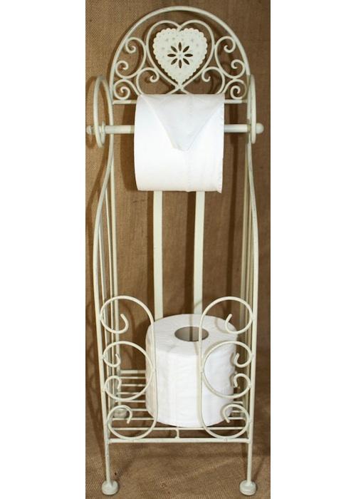 Cream Heart Toilet Roll Holder