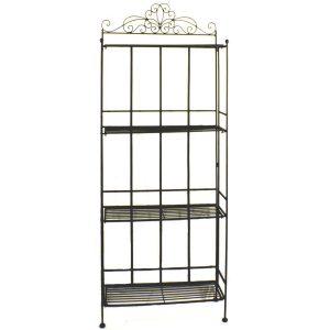 Vintage Style Black 4 Tier Shelf 3