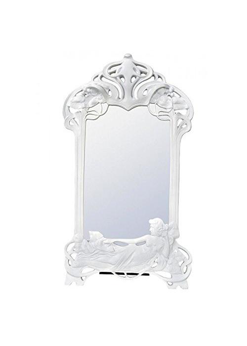 White Art Deco Mirror