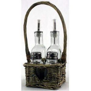 Basket Condiment Set 1