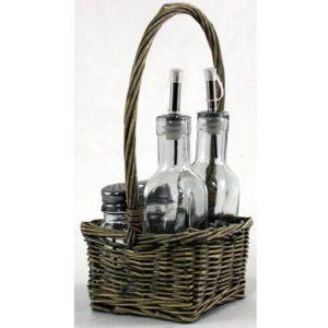 Basket Condiment Set 2
