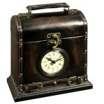 Brown Box Clock