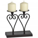 Twin Heart Candle Holder