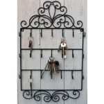 Wall Mounted Key Hooks Black