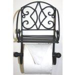Black Sturdy Toilet Roll Holder 3