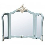 Blue Folding Dressing Table Mirror