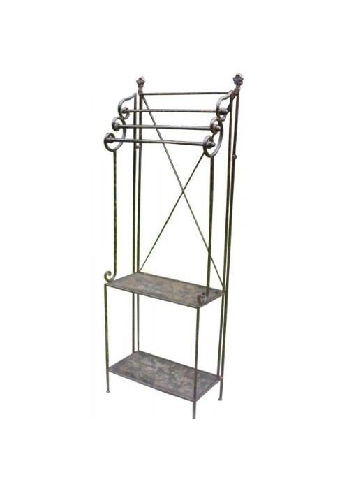 Rustic Metal Bathroom Shelves