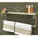 Scroll Design Cream Towel Rail