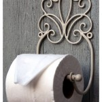 Vintage Cream Toilet Roll Holder