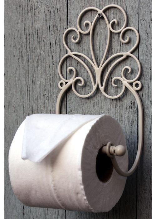 Vintage Cream Toilet Roll Holder