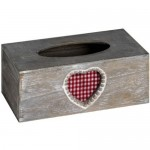 Wooden Heart Tissue Box Cover