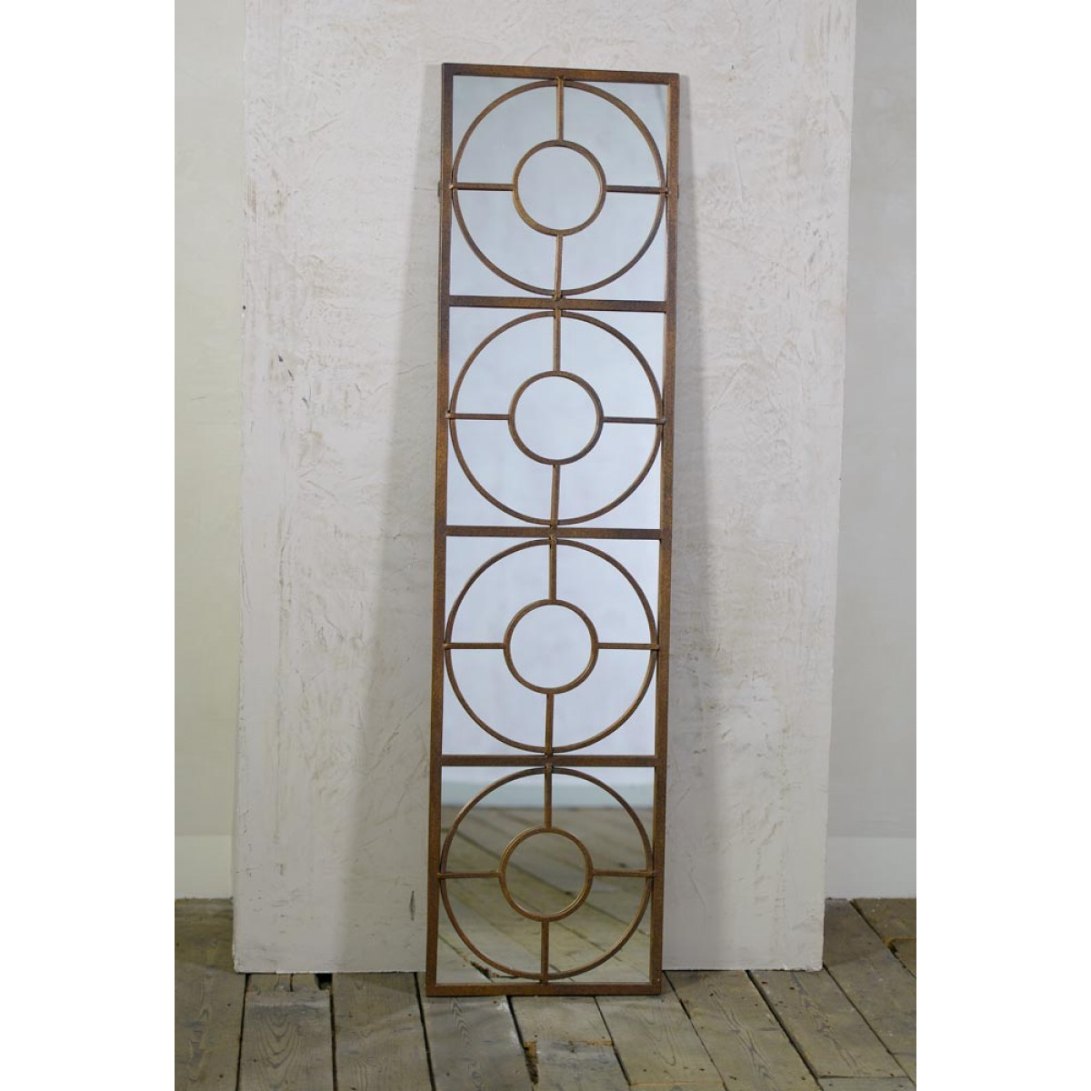 Tall Decorative Metal Contemporary Style Framed Wall Mirror