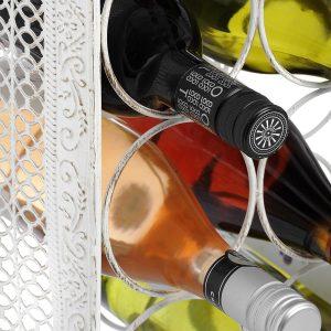 14230-b white metal 14 bottle wine rack