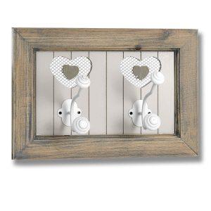 16269 shabby chic heart white hooks
