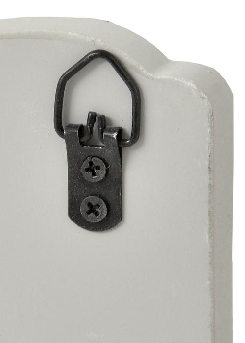 17053-a vintage shabby chic white hooks