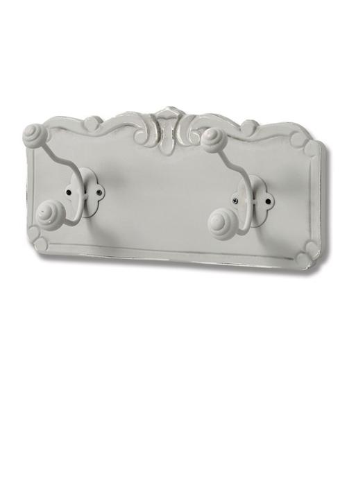 17053 shabby chic vintage hooks white