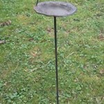 4977 bird metal free standing bird feeder