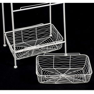 AHL038_5 white wire basket unit