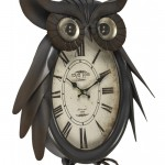 EGN003__1 owl metal wall clock