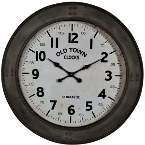 GUD210 large round old town wall clock