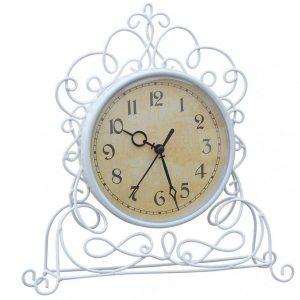 KE197ATM1 white metal ornate clock