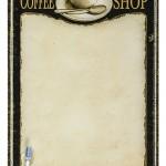 KKS013 coffee shop notice board