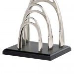 KNG315 metal chrome letter rack