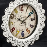 MHG096_2 lace love wall clock