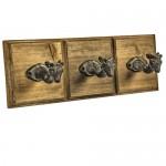 QEL021__deer wood metal hooks