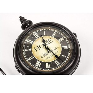 REL014_3 double sided station style wall clock