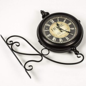 REL014_4 double sided station style wall clock