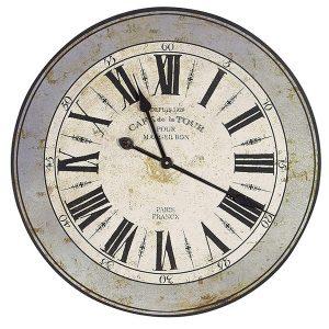 STN199 grey distressed vintage style clock