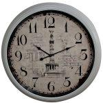 WBD015__1 column black white wall clock