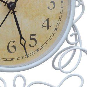 ke197atm1-det1 white ornate metal clock
