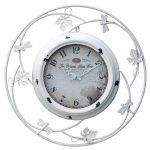 r3-c034 white princess metal clock
