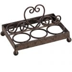 11265 Heart Antique Brown Metal Egg Holder