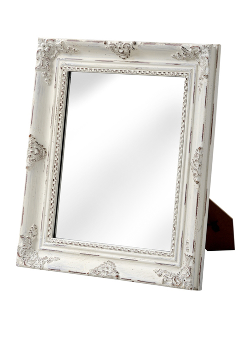 16315 antique white rectangle mirror
