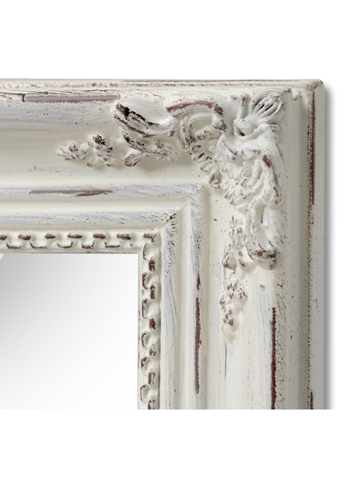 16315-b antique white rectangle mirror