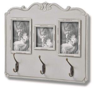 17059 Fleur Grey Picture Frame 3 Double Hooks