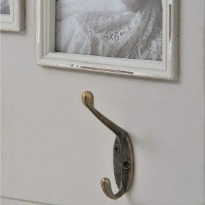 17059-a Fleur Grey Picture Frame 3 Double Hooks