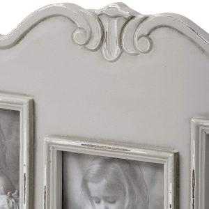 17059-b Fleur Grey Picture Frame 3 Double Hooks