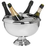 17527 Chrome 4 Champagne Bottle Holder